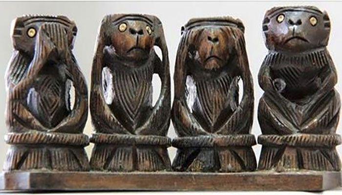 9c34549a9b0b2da050fe477d9caeb53b - Мидзару, Кикадзару, Ивадзару: Почему три японскин обезьяны стали символом женской мудрости
