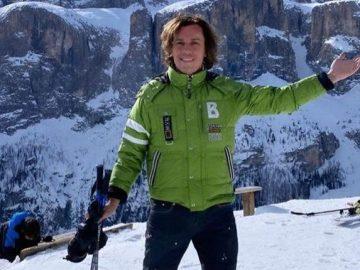 Галкин показал, как сын обгоняет его на лыжах