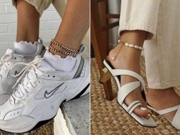 Модные браслеты на ногу 2020