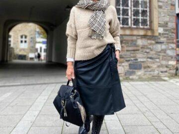 Юбки для женщин 50+. Как их модно носить, чтобы не выглядеть «старушкой»